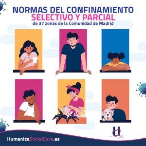 Normas del «confinamiento selectivo y parcial» de 37 zonas de la Comunidad de Madrid