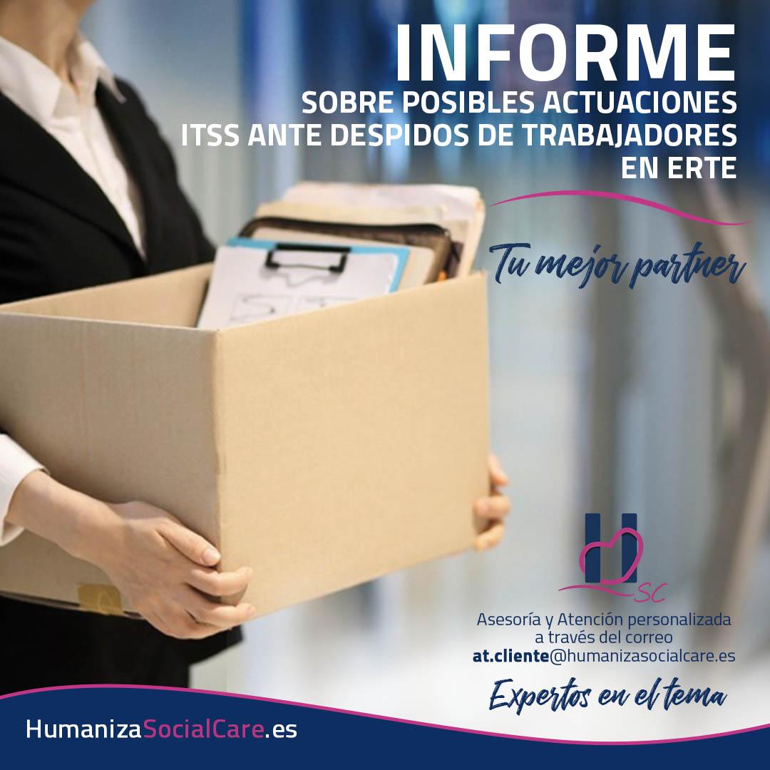 INFORME SOBRE POSIBLES ACTUACIONES ITSS ANTE DESPIDOS DE TRABAJADORES EN ERTE